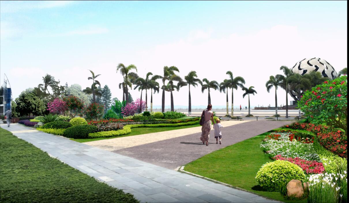 贺州站规划_海滩公园、银滩公园绿化补种补植建设工程--设计成果展示